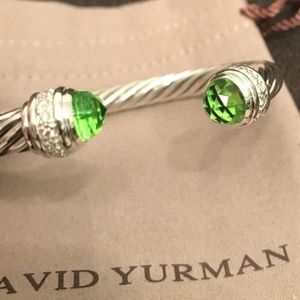 David Yurman Bracelet Peridot & Diamonds 7mm